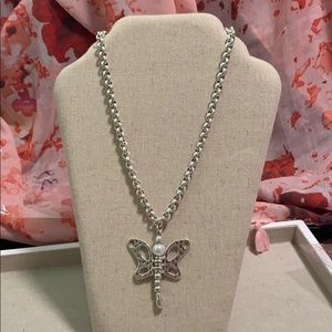 """TUCCO 2 1/2"""" BUTTERFLY PENDANT IN SILVER 18"""" CHAIN"""
